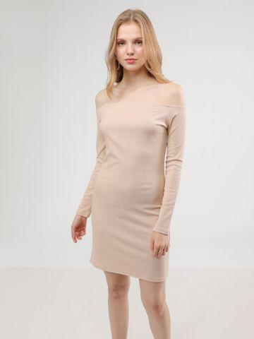 שמלת מיני ריב אוף שולדרס עם שסע של TERMINAL X