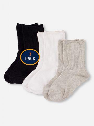 מארז 3 זוגות גרביים בצבעים שונים / בנים של THE CHILDREN'S PLACE