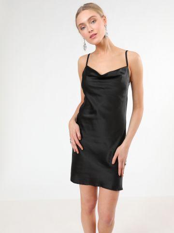 שמלת סאטן מיני עם כתפיות דקות של TERMINAL X