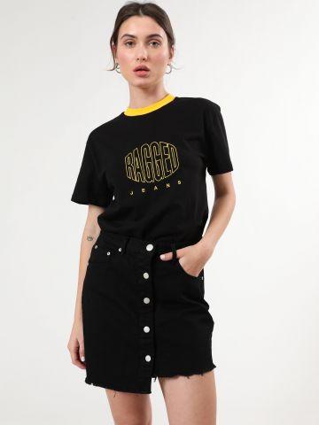 חצאית ג'ינס מיני אסימטרית של GLAMOROUS