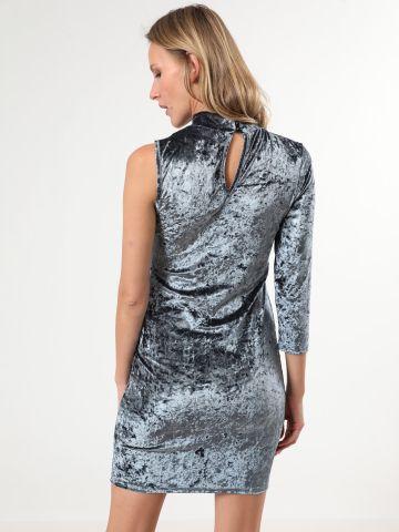שמלת קטיפה מיני וואן שולדר של TERMINAL X