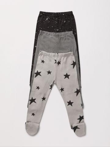 מארז 3 מכנסיים עם רגליות בהדפס שונים / NB-2Y של TERMINAL X KIDS
