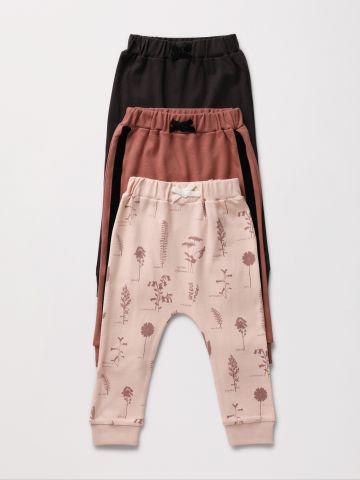 מארז 3 מכנסיים ארוכים בהדפסים שונים / 0-2Y של TERMINAL X KIDS