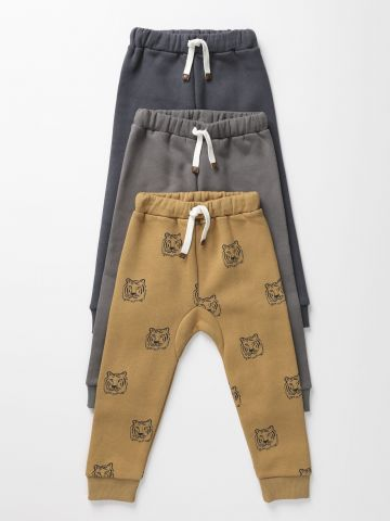 מארז 3 מכנסי טרנינג פוטר ארוכים בהדפסים שונים / 0-6Y של TERMINAL X KIDS