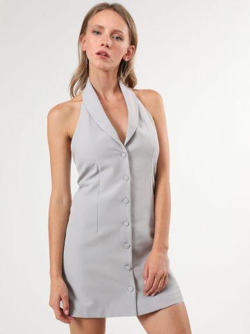 שמלת קולר מיני בסגנון מחויט של TERMINAL X