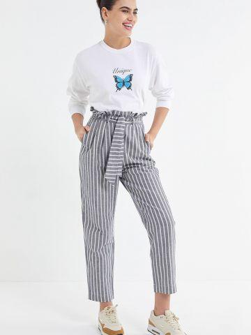 מכנסי פייפרבאג בהדפס פסים UO של URBAN OUTFITTERS