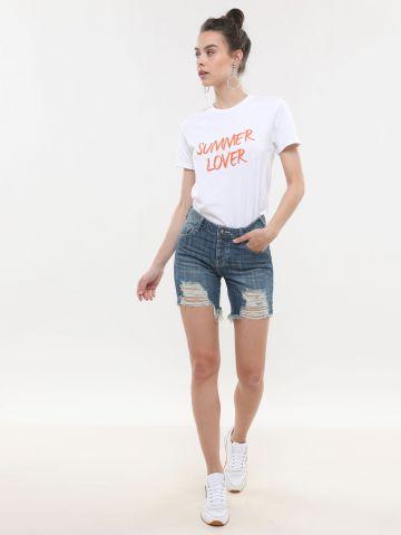 ג'ינס קצר בגזרת Boyfriend של ONE TEASPOON