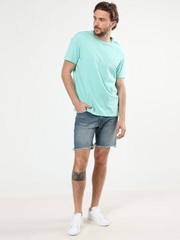 ג'ינס קצר ווש עם סיומת פרומה של RALPH LAUREN