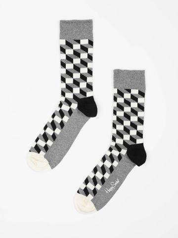 גרביים מעל הקרסול בהדפס מלבנים / גברים של HAPPY SOCKS