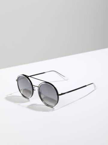 משקפי שמש עגולים עם מסגרת פלסטיק Narita של TERMINAL X