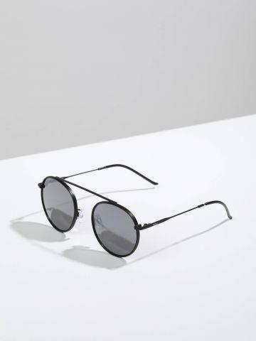 משקפי שמש עגולים עם מסגרת דקה Berlin של TERMINAL X