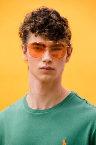 משקפי שמש עם עדשה צבעונית Amsterdam של TERMINAL X