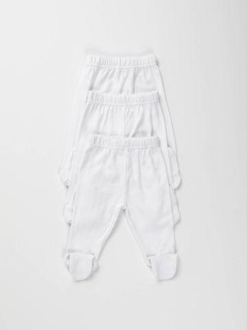 מארז 3 מכנסיים חלקים עם רגליות/ בייבי בנים של FOX