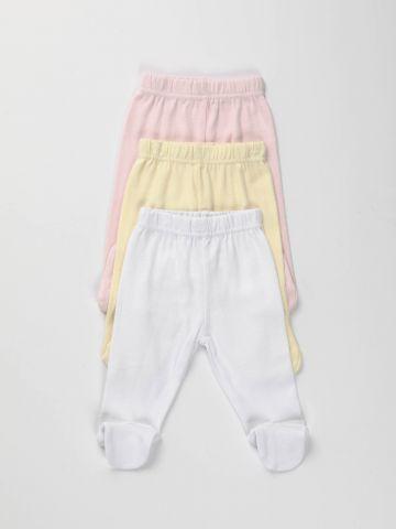מארז 3 מכנסיים עם רגליות / בייבי בנות של FOX