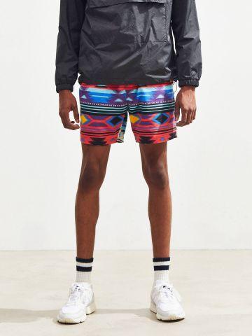 מכנסי פלנל קצרים בהדפס אצטקי UO של URBAN OUTFITTERS