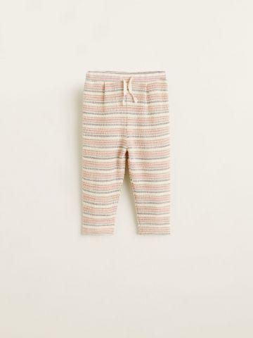 מכנסי טרנינג בהדפס פסים / בייבי בנות של MANGO