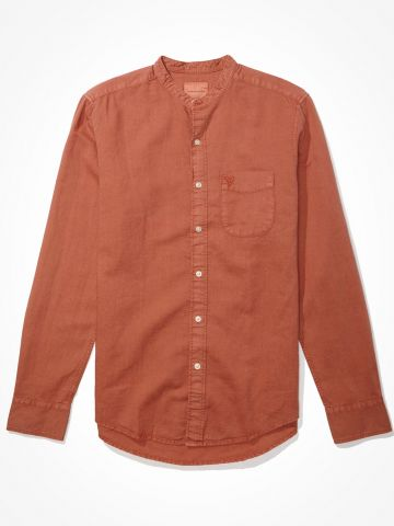 חולצת פשתן מכופתרת / גברים של AMERICAN EAGLE