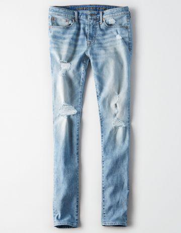 ג'ינס סקיני ווש עם קרעים Skinny / גברים של AMERICAN EAGLE