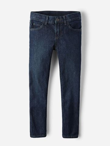 מכנסי ג'ינס סקיני בשטיפה כהה / בנים של THE CHILDREN'S PLACE