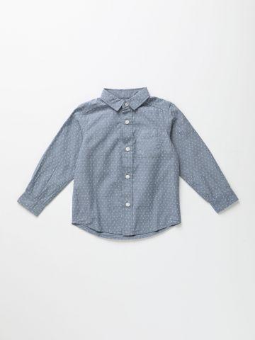 חולצה מכופתרת בהדפס מעויינים / 9M-4Y של THE CHILDREN'S PLACE
