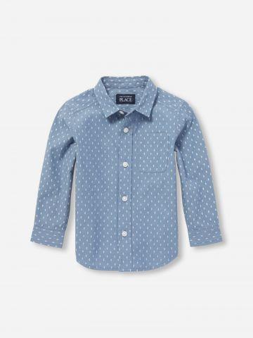 חולצה מכופתרת בדוגמת נקודות / 9M-4Y של THE CHILDREN'S PLACE