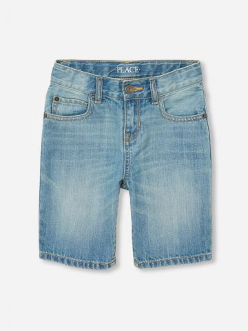 ג'ינס קצר בשטיפה בהירה / בנים של THE CHILDREN'S PLACE