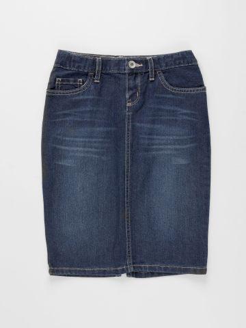 חצאית ג'ינס בשטיפה כהה / בנות של THE CHILDREN'S PLACE