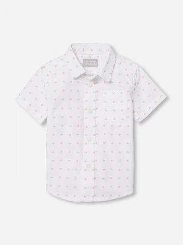 חולצה מכופתרת בהדפס גאומטרי / 0-4Y של THE CHILDREN'S PLACE