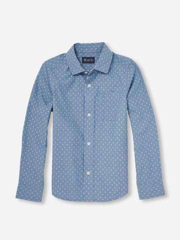 חולצה מכופתרת בדוגמת נקודות / בנים של THE CHILDREN'S PLACE