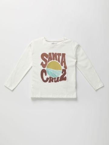 טי שירט שרוולים ארוכים עם הדפס Santa Cruz / בנים של TERMINAL X KIDS
