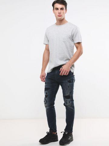 ג'ינס ארוך עם קרעים של PEPE JEANS
