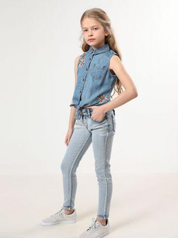 ג'ינס סקיני בשטיפה בהירה של AMERICAN EAGLE