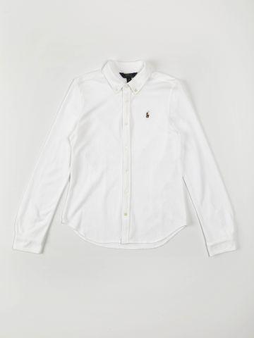 חולצה מכופתרת עם רקמת לוגו / בנים של RALPH LAUREN