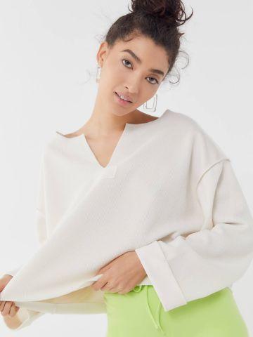 חולצת ריב אוברסייז עם תפרים בולטים UO של URBAN OUTFITTERS