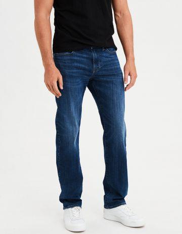 ג'ינס בגזרה ישרה עם שפשופים Original Straight של AMERICAN EAGLE