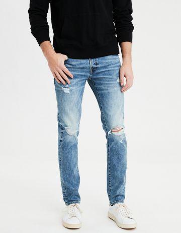 ג'ינס סקיני בשטיפה בהירה Skinny של AMERICAN EAGLE
