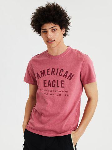 טי שירט ווש עם לוגו של AMERICAN EAGLE