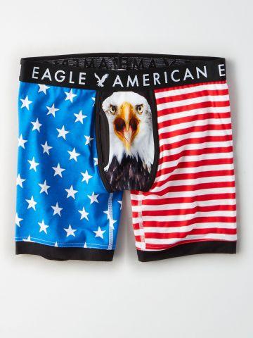 תחתוני בוקסר לונגליין USA / גברים של AMERICAN EAGLE