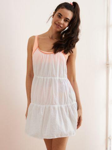 שמלת קומות מיני עם כתפיות מודגשות של AERIE