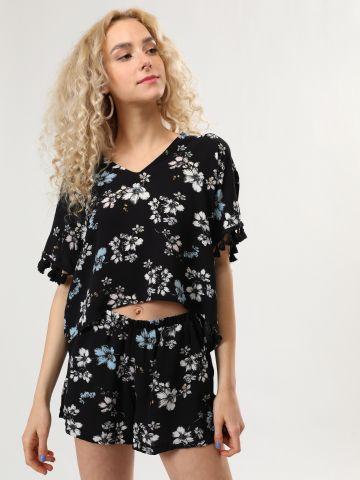 מכנסיים קצרים בהדפס פרחים של YANGA