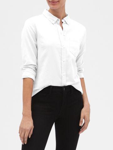 חולצה מכופתרת עם כיס של GAP
