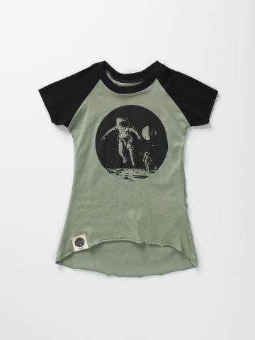 שמלת בייסבול עם הדפס חלל/ בייבי בנות של KID A