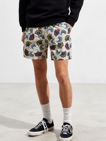 מכנסי בגד ים בהדפס פרחים Katin X UO של URBAN OUTFITTERS