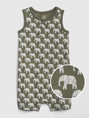 אוברול קצר בהדפס פילים / בייבי של GAP