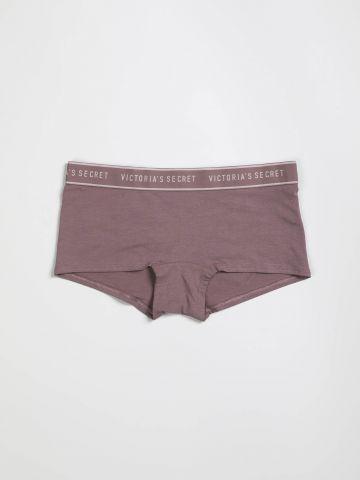 תחתוני בוקסר גומי לוגו המותג של Victoria's Secret