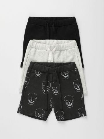 מארז 3 מכנסיים קצרים פרנץ' טרי בצבעים שונים / 6M-6Y של TERMINAL X KIDS