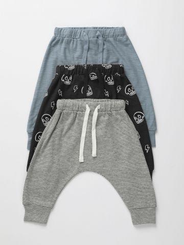 מארז 3 מכנסיים דקים בהדפסים שונים / 3M-2Y של TERMINAL X KIDS
