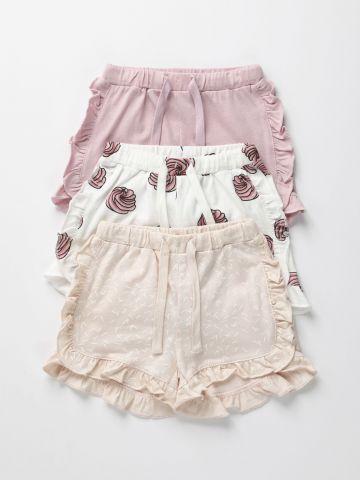 מארז 3 מכנסיים קצרים בצבעים שונים / 3M-2Y של TERMINAL X KIDS