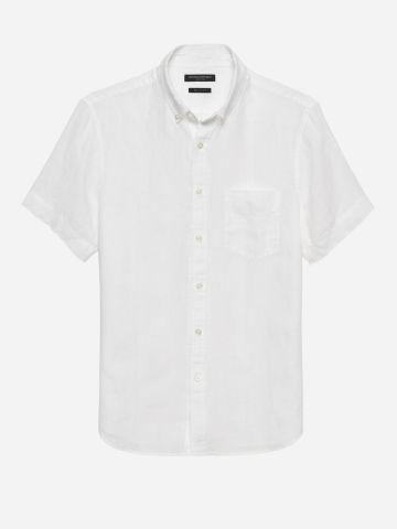 חולצת פשתן מכופתרת / גברים של BANANA REPUBLIC