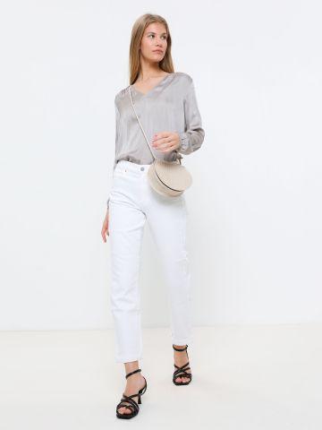 ג'ינס ארוך בגזרה ישרה Mid-Rise Straight של BANANA REPUBLIC